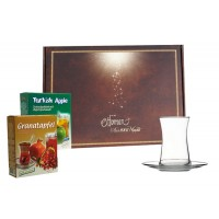 Teegläserset Modern in Geschenkbox mit Tee