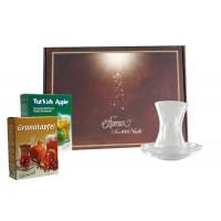 Teegläserset Klassik in Geschenkbox mit Tee